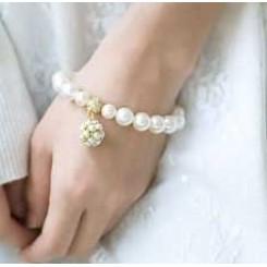 Жемчужный браслет (цвет - золото)