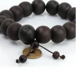 Браслет шамбала - черные чётки