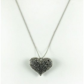 Кулон Сердце - цвет серебро