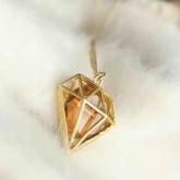 Эксклюзивный кулон с большим кристаллом Swarovski