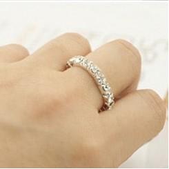 Кольцо Swarovski классика - цвет серебро