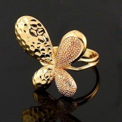 Кольцо стильное - цвет металла полностью идентичен золоту